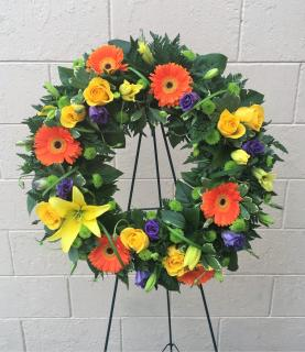 Vibrant Remembrance Wreath