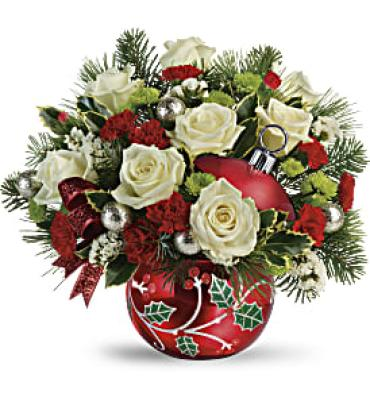 Classic Holly Ornament Bouquet