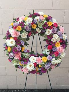 The Over the Rainbow Wreath