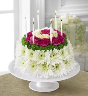 The Wonderful Wishes Floral Cake